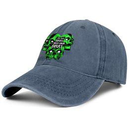 Cool Skull Caps For Men Australia - Misfits skull green blue for men and women trucker denim cap cool fitted golf blank vintage personalized trendy personalised denim hats