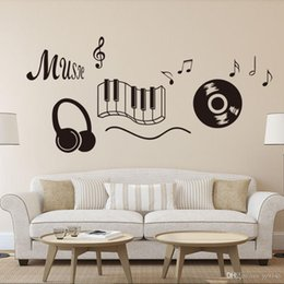 $enCountryForm.capitalKeyWord Australia - Music Score Creative Wall Decals Vinyl Personalized Letters Wall Stickers for Home and Bar Decorative Sticker Removable