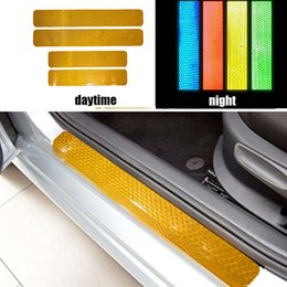 $enCountryForm.capitalKeyWord Australia - 4pcs reflector tape stickers automobiles safe material car For Mitsubishi ASX Lancer RVR 2011 2012 2013 2014 2015 car door sill