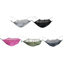 portable single beds Australia - 1-2 Person Outdoor Mosquito Net Parachute Hammock Camping Hanging Sleeping Bed Swing Portable Double Chair