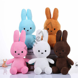 China Rabbit Stuffed Animals Dolls Toys Rabbit Plush toys 5 Colors Stripe Bunny Doll Best Gifts For Kids Toys cheap stuffed rabbit toys for kids suppliers