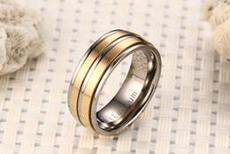 $enCountryForm.capitalKeyWord Australia - Fashion Rings Pure Titanium Material Ring Matte Finish Vacuum Electroplate High Polished 5 Colors Titanium Rings