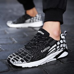 87add01cd450 Men s casual shoes spring and autumn new black outdoor lightweight  breathable walking shoes sports Feminino Zapatos