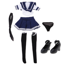 Wholesale figures sailors for sale – custom 1 Girls Sailor Uniform And High Heel Shoes For quot Action Figure Phicen