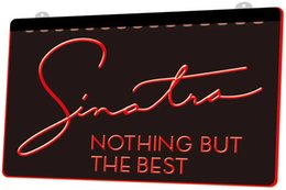 best light 12v Canada - LS1478 0 Frank Sinatra Nothing But The Best RGB Multiple Color Remote Control 3D Engraving LED Neon Light Sign Shop Bar Pub Club
