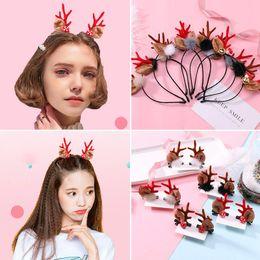 Tree sTicks online shopping - Girls Christmas Hair Sticks Designs Cartoon Barrettes Elk Tree Santa Claus Hair Clips Kids Hair Accessories Hairpin Handmade
