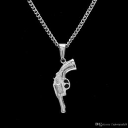 snake gun pistol Australia - 2018 New Design Titanium Steel Gun Pendant Necklace Hip Hop 92 pistol Pendants Vintage Roscoe Gun Necklaces For Men Women Gift