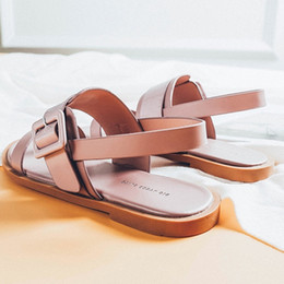 $enCountryForm.capitalKeyWord Australia - Sexy2019 Feet Fat Fit Real Will Code Women's Shoes 41-43 Instep High Rome Sandals Ins Tide 2019 Summer Flat Bottom