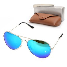 womens glasses styles Australia - High Quality Sun glasses Mens Sunglasses New style Womens Mirror sunglasses Designers pilot Sunglasses Glass glasses 58m with Original cases