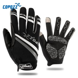 Wholesale Copozz Brand New Gel bike glove Full Finger touch screen cycling gloves anti slip shockproof breathable MTB sport bicycle gloves