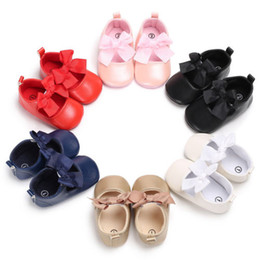 toddler black girls dress shoes Australia - Baby Dress PU Shoes for Toddler Baby Shoes Princess Children Kids Girl Dress Shoes Flats Wedding Party