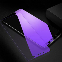 Purple Light Film NZ - Ultra Thin Anti purple Light Tempered Glass Front Screen Protector Cover 9H Protective Film for iphone 6 7 8 xs xr max