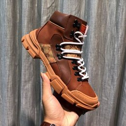 $enCountryForm.capitalKeyWord Australia - 208806 Winter Men's Outdoor Hiking Stitching Matte Upper Rubber Non-slip Outsole Brown Buckles Lace-ups Loafers Drivers Sneakers Shoes