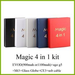 Dry cartriDge online shopping - Magic in Electronic Cigarette with Wax vaporizer Ago g5 MT3 Glass Globle ce3 cartridge EVOD dry herb vaporizer e cigarette starter kit