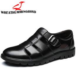 $enCountryForm.capitalKeyWord Australia - Big size 47 Summer Mens genuine leather Sandals Mature man Casual Sandal Shoes Fashion Beach Shoes dad Breathable RA-24
