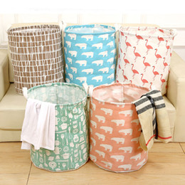 Big Storage Boxes Australia - big size Laundry Basket bag Cotton & Linen fabric Dirty Clothes Storage Baskets waterproof storage box buggy bag folding containing box