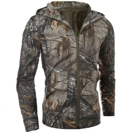 Xl watches men online shopping - Men bionic camouflage jungle stealth jacket outdoor sports hiking hunting fishing shooting watch bird cloaking hooded tops coat T190919