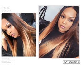 virgin brazilian hair companies UK - 3 bundles straight hair with closure 100 ombre virgin human hair-TKWIG Company natual Wave Customized Women