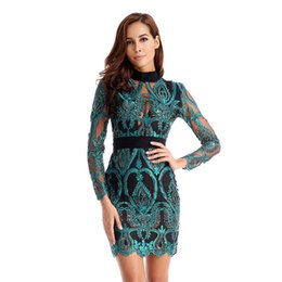 $enCountryForm.capitalKeyWord UK - 2019 New Women Dress Long Sleeve Hollow Out Celebrity Lace Evening Party Dresses Sexy Club Vestidos Ladies Clothing J190430