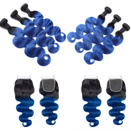 a25bfa61def Two Tone black blue hair online shopping - Two Tone B Blue Brazilian Body  Wave Virgin