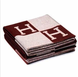 Chinese  Letter Cashmere Blanket 140*170cm Crochet Soft Wool Scarf Shawl Portable Warm Plaid Fleece Knitted Throw Towel Cape For Sofa Couch Bed manufacturers