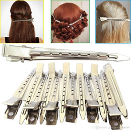 $enCountryForm.capitalKeyWord Australia - 20pcs set Hairdressing Curling Grip Metal Strong Duck Bill Section Divider Pro Hair Clips Sectioning Accessories