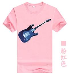 6f77917bc36 Casual Cultivation Instrument Guitar Print Men Tees Cotton 2019 Summer Women  T-shirt Plus Size Couple Tops Pink Punk Tshirt T101