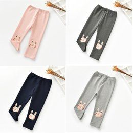 $enCountryForm.capitalKeyWord Australia - Cute Rabbit Children Pants Spring Cotton Kids Leggings Trousers Girls Elastic Mid Long Pants 2-6T