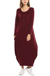 $enCountryForm.capitalKeyWord UK - Zeagoo Women Long Sleeve Baggy Loose Fit Pockets Casual Maxi Long Dress