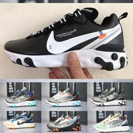 Wholesale New Design Epic React Element Running Shoes Hot Sell Mens Women White Black NEPTUNE GREEN Blue Trainer Breathable Sports Sneakers