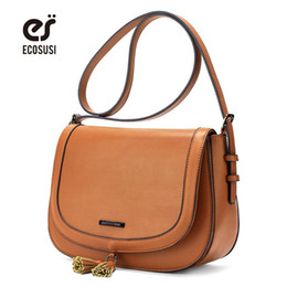 $enCountryForm.capitalKeyWord Australia - uggage s Handbags ECOSUSI New Fashion Women Messenger Bags High Quality PU Leather Women Crossbody Bag With Tassel Female Crossbody Bag S...