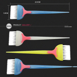 Hair dye comb online shopping - 1 Pc Professional PP Handle Natural Environmental Resin Fluffy Comb Hairdressing Barber Hair Dye Hairbrush Make Up Comb Styling