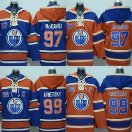 fefc54e84a2 Men Youth Women Edmonton Oilers Hoodie Connor McDavid Leon Draisaitl Ryan  Nugent-Hopkins Cam Talbot Darnell Nurse Milan Lucic Pullover