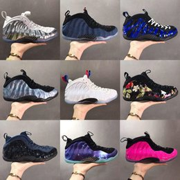 air sports shoes blue green NZ - Penny Hardaway Kids Mens Basketball Shoes Element Alternate Galaxy Legion Green Air Eggplant Maroon Foams Athletic Sport Sneakers