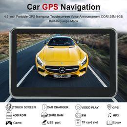 $enCountryForm.capitalKeyWord Australia - Car GPS Navigation 4.3inch 7inch Portable GPS Navigator Car multimedia Player Touchscreen Voice Announcement With Europe Maps