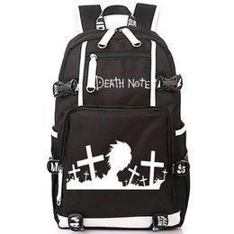 Cartoons Nice Girls NZ - Death Note backpack Fans love cartoon day pack Nice anime school bag Print packsack Computer rucksack Sport schoolbag Outdoor daypack