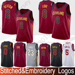 f9cbfc383398 Stitched 2 Sexton Collin 0 Love Kevin 5 Smith JR 23 James LeBron 1 Rose  Derrick 9 Wade Dwyane Basketball Jerseys SKU  11