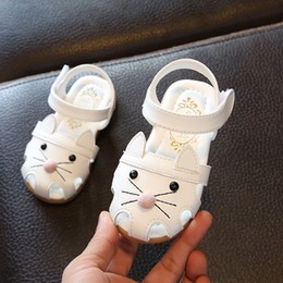 $enCountryForm.capitalKeyWord Australia - 2019 New PU Leather Baby Summer Sandals For Girls 1-2-3 Years Old Soft Sole Kids Toddlers Cute Cartoon Cat Shoes