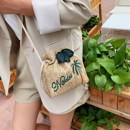 $enCountryForm.capitalKeyWord Australia - 2019 Fashion Women's Messenger Bag String Straw Embroidery Shoulder Bag Ladies Crossbody Summer Beach Handbag