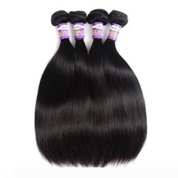 cheap human hair extensions 24 inch Canada - Mongolian Silky Straight Virgin Hair 3 or 4 Bundles 9a Natural Black Straight Cheap Mongolian Remy Human Hair Weave Extensions 10 28 Inch