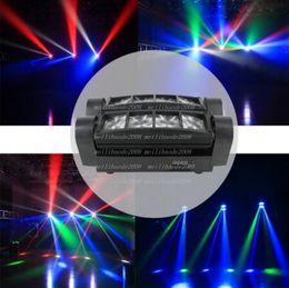 Ingrosso LED fase 8X10W Mini LED Spider Light DMX512 luce capa commovente RGBW LED fascio di luce DJ della discoteca proiettore MYY