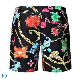 $enCountryForm.capitalKeyWord UK - Original authentic casual fashion summer seaside men's black printed shorts beach pants swimwear pants men's ice silk fabric, upper body eff