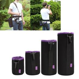 $enCountryForm.capitalKeyWord UK - Neoprene DSLR Soft Video Camera Lens Black Purple Pouch Bag Case Camera Pack Bag(4Pcs) Protective Bag