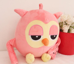 Discount soft plush stuffed toy owl 30cm Plush Owl PP cotton Filling Material Cute Giant Large Stuffed Soft Plush Toy Doll Pillow Gift Pink