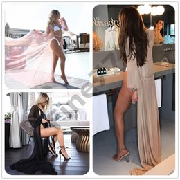 1a16d1779edfb summer sexy Women Chiffon see-through Bikini long Cover Up Swimsuit  Swimwear Beach Dress Bathing Suit 2019 new