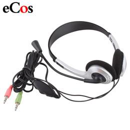 $enCountryForm.capitalKeyWord Australia - earphone headphone Cheap Wired Gaming Earphone Headphone With Microphone 3.5mm Plug MIC VOIP Headset Skype for PC Computer Laptop #21228