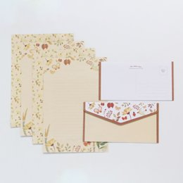$enCountryForm.capitalKeyWord Australia - 9 Pcs lot Lovely Floral Pattern Envelope Postcard Wedding Invitation Card Paper Bag Wages Letter Paper Cover Office Stationery