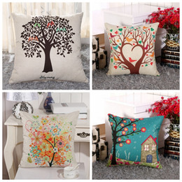 9fd085b5bd71 2019 LINMAN 3d Hand painted Flower Bird Tree Cotton Pillow Cushion Sofa-Linen  Pillow Decorative throw pillows cushion pillow hand painted cushions deals