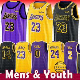 2019 LeBron 23 James Laker Jersey The City Los Angeles Kobe 24 Bryant 8  Lonzo 2 Ball Kyle 0 Kuzma Brandon 14 Ingram Basketball Jerseys NEW 070dd90d8