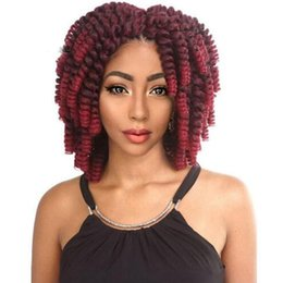 hottest curling wand NZ - Hot Selling! 1Pcs 8'' Jumpy Wand Curl Jamaican Bounce Synthetic Braiding Hair Extension Crochet Braid Kanekalon Hair For Fashion Wom